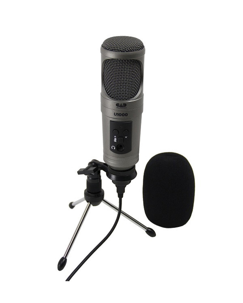 buy cad u1000 usb studio condenser microphone or check online price in india euphonycart. Black Bedroom Furniture Sets. Home Design Ideas