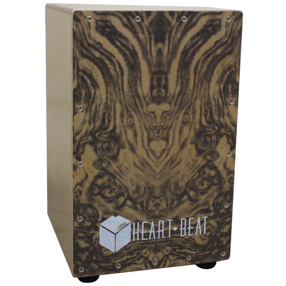 Kadence Heartbeat Cajon, Wooden Finish