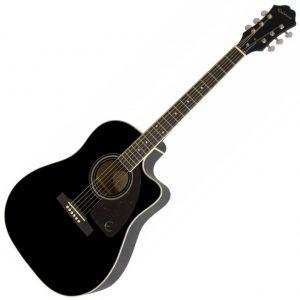 Epiphone AJ 220SCE Semi Acoustic Guitar Ebony