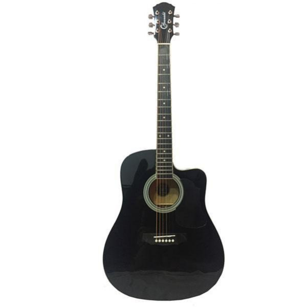 Granada Acoustic Guitar Dreadnought PRLD 14C Black