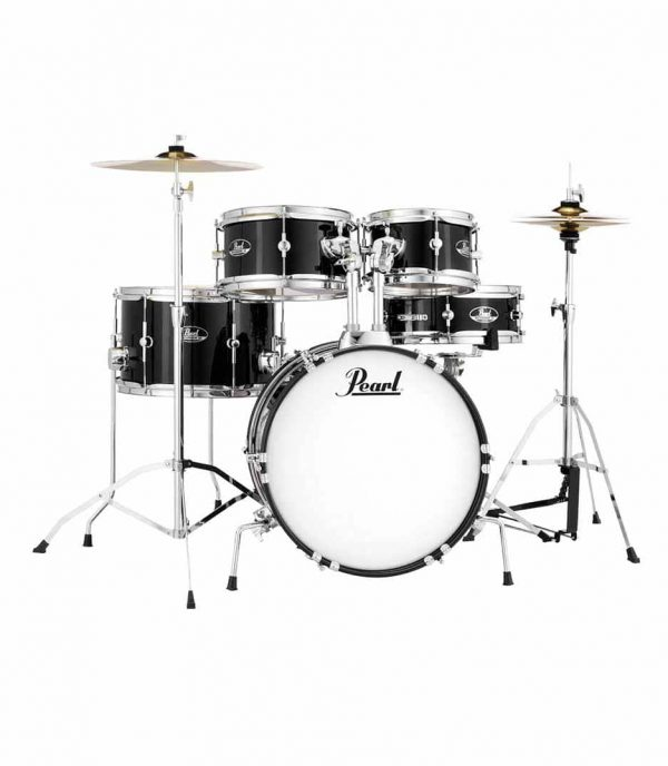 Pearl Drum Set 5 Pcs Roadshow Junior With Hardware & Cymbals Jet Black RSJ465CC 31