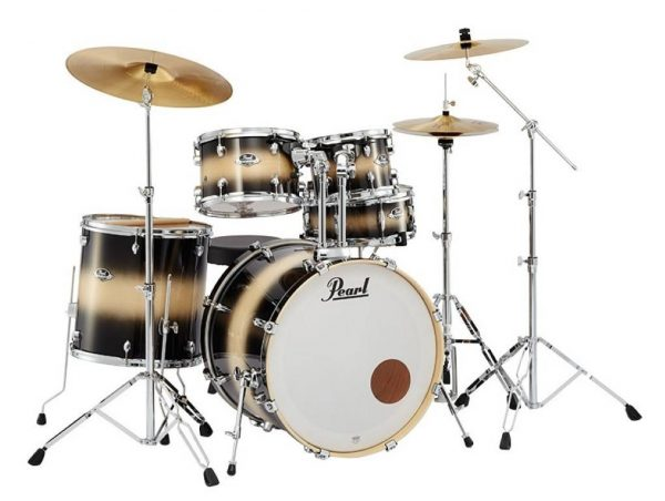 Pearl Drum Set Export Lacquer 5 Pcs Hybrid Shell Pack Nightshade Lacquer EXL725SPC 255